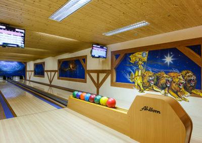 Unsere Doppel-Bowlingbahn